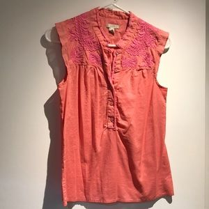 Jcrew embroidered blouse